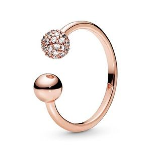 Pandora Rose Pavé Bead Ring